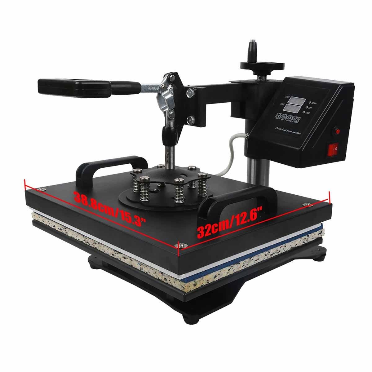 TC-Home Heat Press 8 in 1 Multifunction Sublimation Heat Press Machine