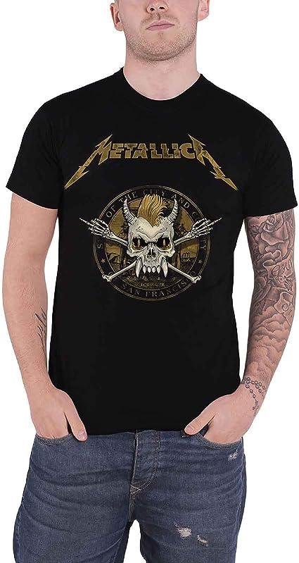 G/én/érique Metallica T Shirt Scary Guy Seal Band Logo Nouveau Officiel Homme