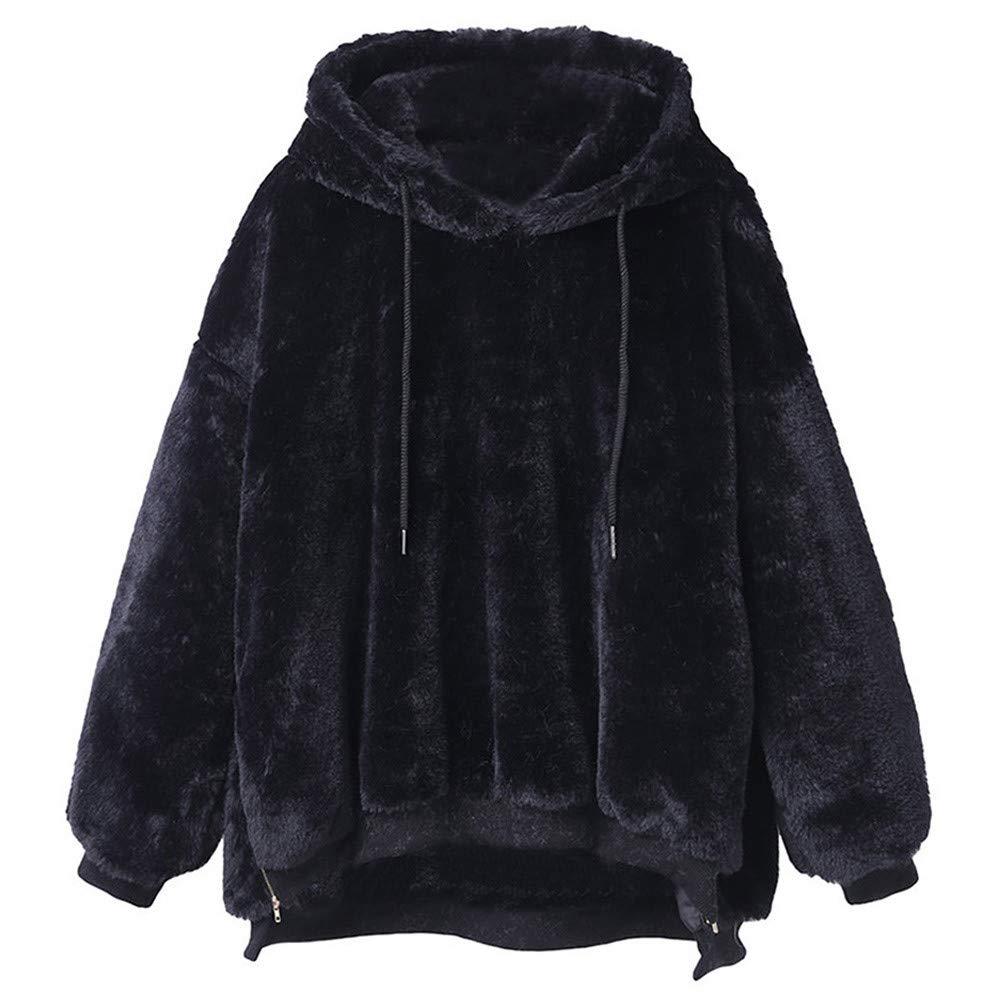 Sale! Teresamoon Womens Winter Warm Fluffy Coat Fleece Fur Outerwear Sweatshirt Coat Teresamoon-Coat
