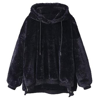 ... Chaqueta de Abrigo de Terciopelo Sudadera con Capucha Delgada Bolsillo Abrigos de Las Mujeres Blusa de Invierno: Amazon.es: Ropa y accesorios