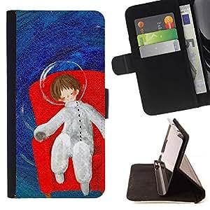 For HTC Desire 820 Case , Sueños Espacio Profundo Metáfora- la tarjeta de Crédito Slots PU Funda de cuero Monedero caso cubierta de piel