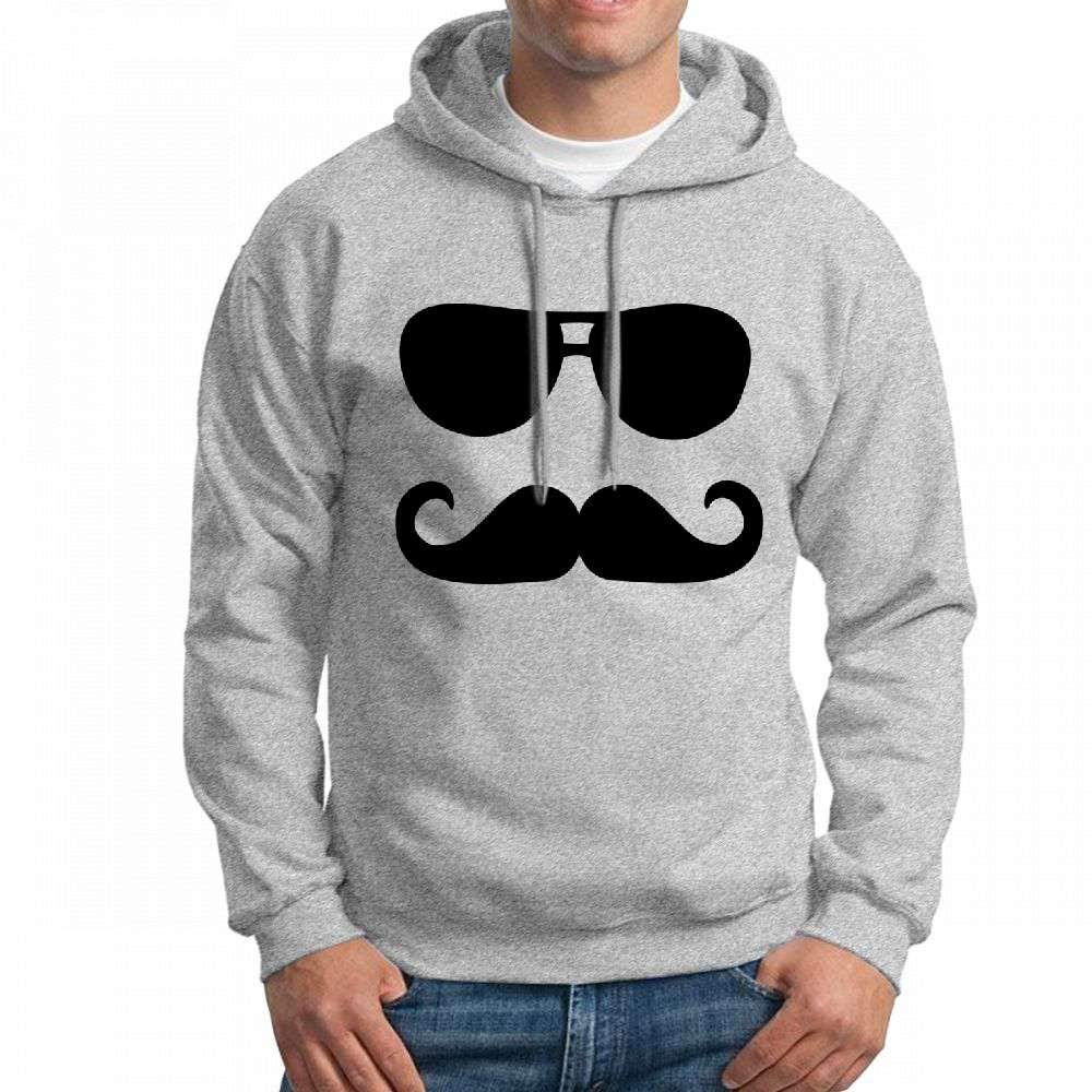 CopyBoy Store Sweatshirt Men Mustache Sunglasses Hoodie