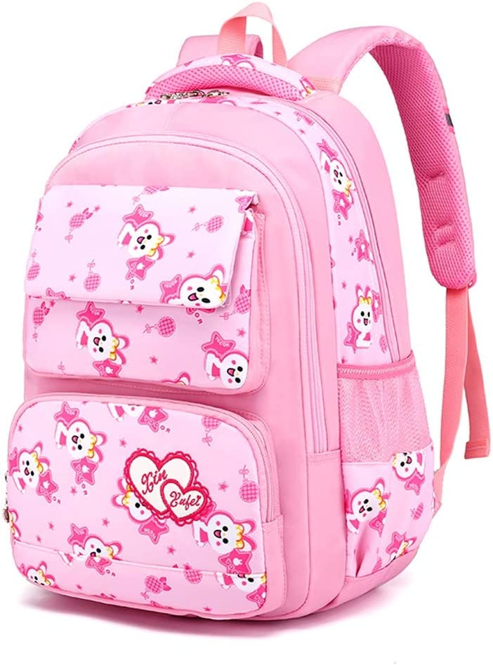 RMXMY Pupils Schoolbags Campus Simple Fashion Trends Ridge Relief Large Capacity Personality Creative Cartoon Waterproof Joker Backpack Women