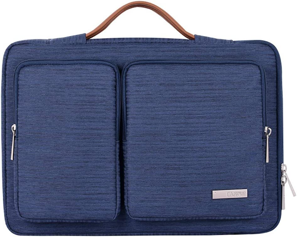 YIYINOE 13 Inch Laptop Carrying Case 360 Protective for MacBook Air Pro with Retina Display 13.3 Inch Business Sleeve Lightweight Computer Shoulder Bag for Surface Samsung Ultrabook Chromebook Blue