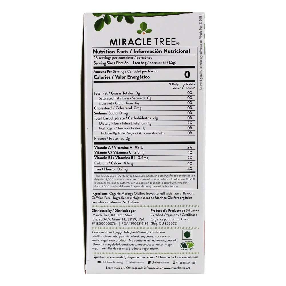 Miracle Tree - Fresa orgánica del té de Moringa - 25Bolsitas de té: Amazon.es: Alimentación y bebidas