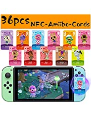 $27 » 36Pcs NFC Villagers Cards for Amiibo Animal Crossing New Horizons, NFC Cards for ACNH with Storage Box,Game Cards for Switch/Switch Lite