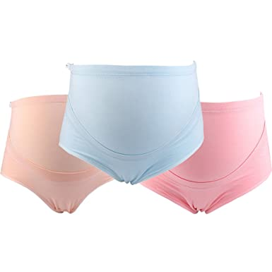 af60fec2dd44b HONFON 3 Pack Maternity Knickers Cotton Adjustable High Waist Pregnancy  Underwear: Amazon.co.uk: Clothing