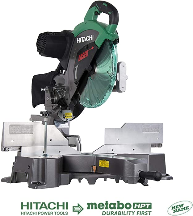 Hitachi C12RSH2 Dual Bevel Sliding Miter Saw with Laser Marker