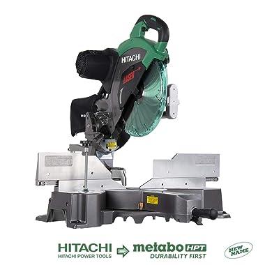 Hitachi C12RSH2 Sliding Compound Miter Saw with Laser Marker