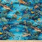 Turtle Reef Ocean Fabric By The Yard