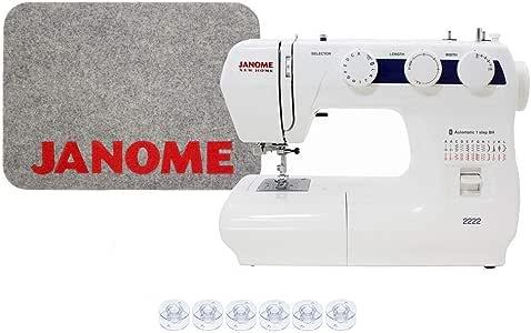 Janome 2222 máquina de coser incluye exclusivo paquete de bono ...