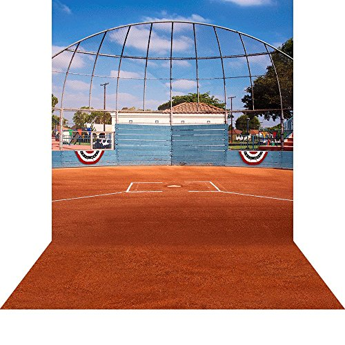 - Photography Backdrop- Baseball Backstop Seamless Fabric Background (10x20)