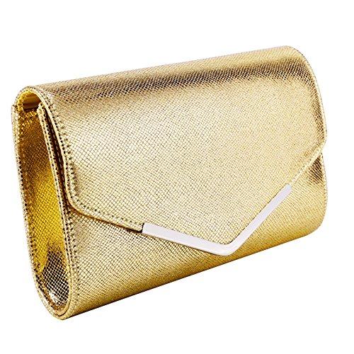 Clutch Shoulder Purse Handbag Gold Bag Envelope Ladies Bridal Party Wedding Women Evening Anladia 1ECwqXxP
