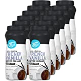 Amazon Brand - Happy Belly Powdered Non-dairy French Vanilla Coffee Creamer (Sugar-Free), 10.2 Ounce (Pack of 12)