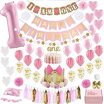 Las decoraciones del primer cumpleaños con decoraciones para ...