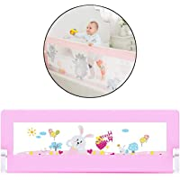 Safe-O-Kid- Pack of 1 - Safest Bed Rails Extra Large (6x2.5 ft/183x78 cm)- Dark Pink -Extra Thick, ABS (Best Material), 8 Adjustable Points, One Hand Operated, Washable, Easy to Install