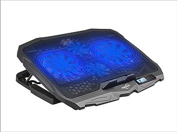 Laptop Enfriador, aigoune 4 ventiladores, 2 USB Port, 5 ajustable ángulo, indicador de temperatura, adecuado para portátil de 17 pulgadas y bajo Disipador: ...
