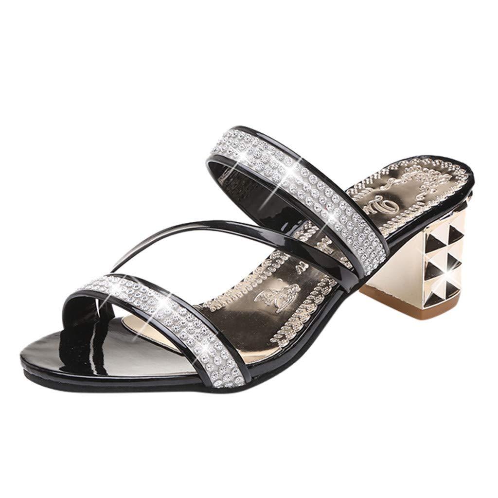 52984ec409d DENER❤ Women Sexy Wedge Sandals with Heels Slip on Slippers ...