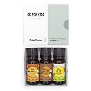 """Edens Garden""""OK For Kids"""" 3 Set, Best 100% Pure Essential Oil Synergy Blend Aromatherapy Starter Kit (Child Safe 2+, For Diffuser & Therapeutic Use), 10 ml"""