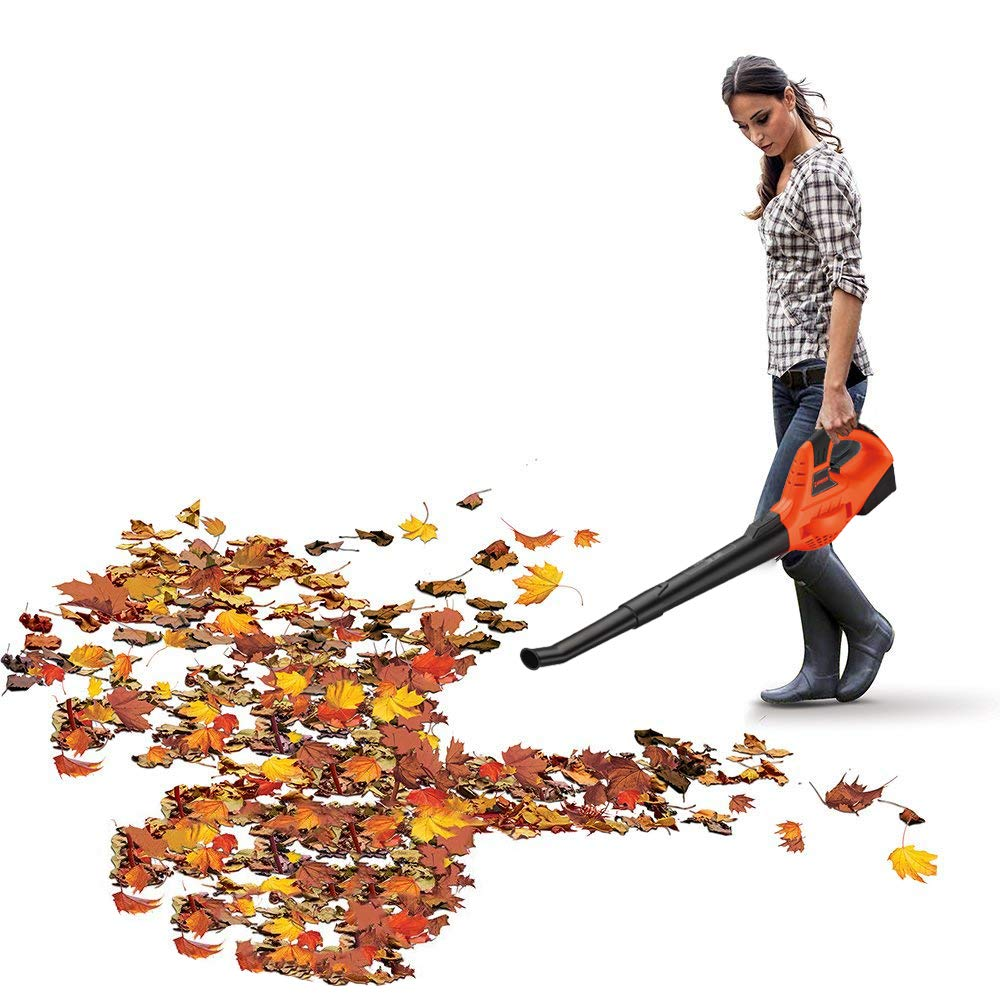 Garden Bean 130 MPH High Performance Variable Speed Cordless Handheld Leaf Blower with Battery & Charger by Garden Bean (Image #7)