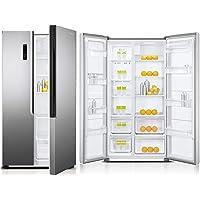 Super General 429 Liters Side By Side Double-Door Refrigerator-Freezer, Digital Control, Silver SGR710SBS, 1 Year…