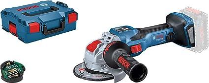 Bosch Professional BITURBO GWX 18V-15 SC - Amoladora angular a batería (18V, disco Ø 125mm, X-LOCK, velocidad variable, Connectivity, sin batería, en L-BOXX)