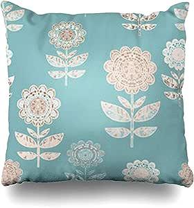 Funda de Almohada de Color Azul Floral Resumen Naturaleza