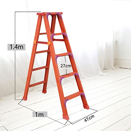 BJL Taburete Step Escalera Plegable de Aluminio - Taburete - Adulto Grande - Escalera Antideslizante - Taburete Pesado Plegable para pies OYO (Color : B, Size : 100 * 47 * 140cm): Amazon.es: Hogar