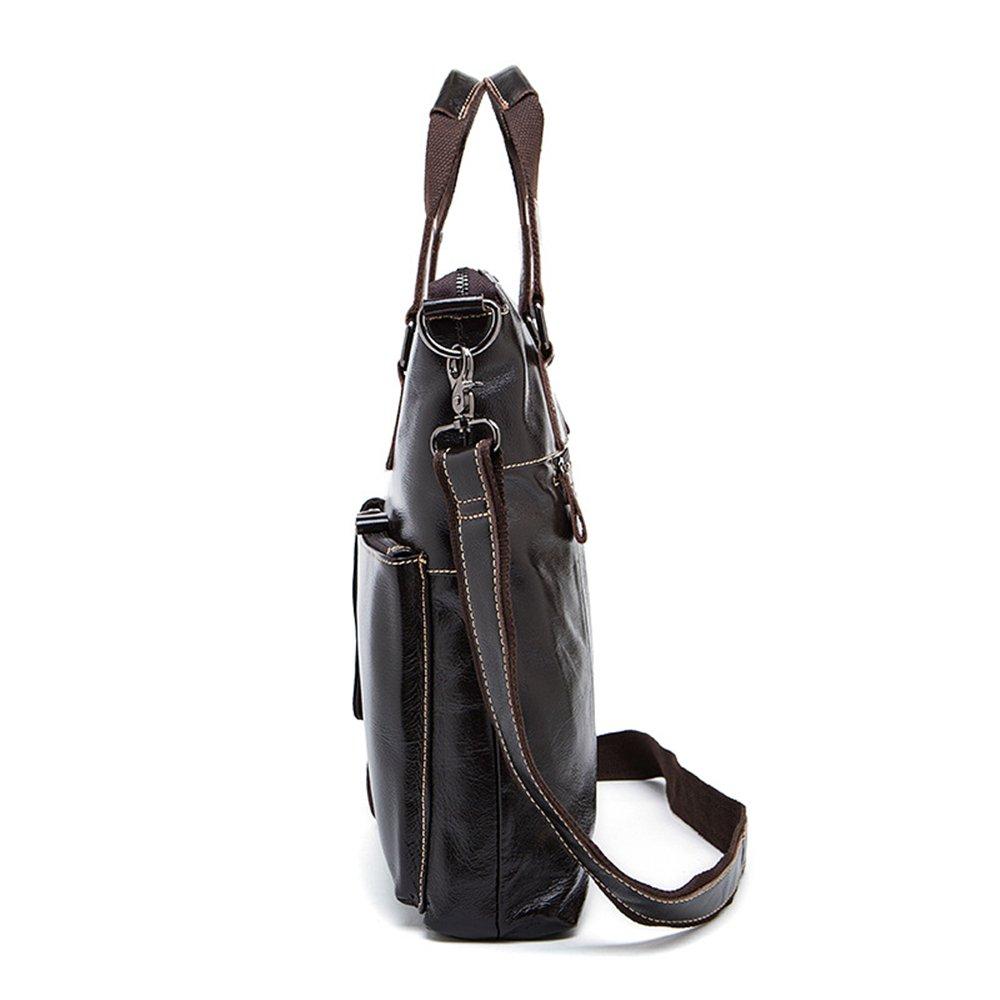 30 35 6.5cm Briefcase GLJJQMY Mens Handbag Casual Business Briefcase Mens Shoulder Crossbody Bag Dark Coffee