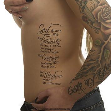 Amazon.com : 5 x Serenity Prayer - Serenity Prayer - Black Tattoo ...