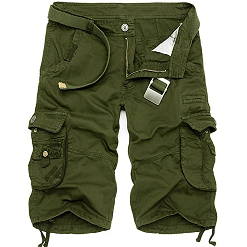 AYG Mens Cargo Shorts Casual Sports Shorts Cotton Solid Camo shorts 29-40