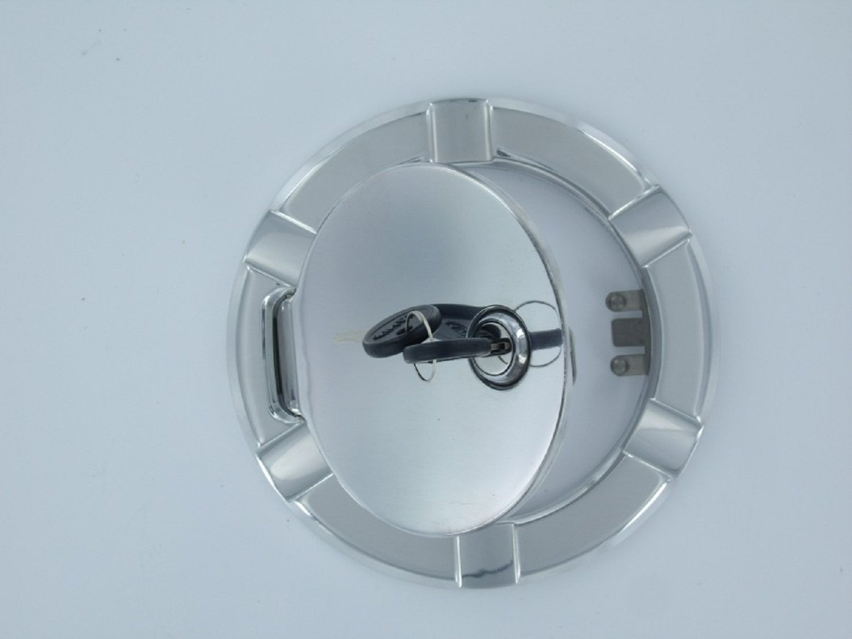 All Sales 6090KC Fuel Door Bl//Chr Gm Trk//Suv