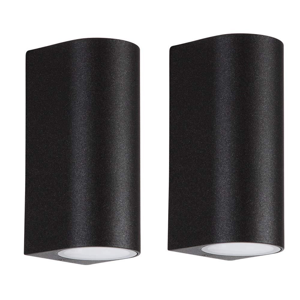 LDDENDP Lampada da parete a LED per esterni sul muro sotto i riflettori Lampada per scale Lampada per porta Lampada ad angolo elegante minimalista Cortile Lampada da parete Lampada da parete a doppia