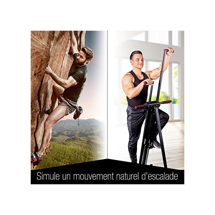 619hQc7pe9L ✅ 𝗠𝗨𝗟𝗧𝗜𝗧𝗔𝗟𝗘𝗡𝗧𝗢 𝟮 𝗘𝗡 𝟭: Nuestra excepcional máquina escaladora VC300 es un dispositivo stepper y escalador vertical para ejercitar piernas, glúteos, abdomen, y músculos de los brazos y también le ayudará a quemar calorías y a la tonificación muscular. Combina las ventajas de dos dispositivos en uno: es más efectivo que montar bicicleta, trotar o correr! Con nuestro dispositivo puede imitar el movimiento natural de escalada. ✅ 𝗣𝗔𝗡𝗧𝗔𝗟𝗟𝗔 𝗠𝗨𝗟𝗧𝗜𝗙𝗨𝗡𝗖𝗜𝗢𝗡𝗔𝗟: Ya sea que lo use como cronometro, contador de calorías o de pasos - con la pantalla nítida de nuestra máquina escaladora, tendrá los resultados de sus ejercicios justo ante sus ojos. Los programas y funciones son rápidos y fáciles de usar. Nuestra máquina escaladora está ajustada de manera ideal para conseguir unos glúteos bien tonificados. Sin embargo, también es perfecta para ejercitar sus brazos y piernas de manera ideal. ✅ 𝗦𝗜𝗦𝗧𝗘𝗠𝗔 𝗜𝗡𝗧𝗘𝗟𝗜𝗚𝗘𝗡𝗧𝗘 𝗗𝗘 𝗣𝗟𝗘𝗚𝗔𝗗𝗢: Este excelente dispositivo deportivo se puede almacenar de manera rápida y fácil. Se pliega con sólo tres sencillos pasos y ahorra mucho espacio.