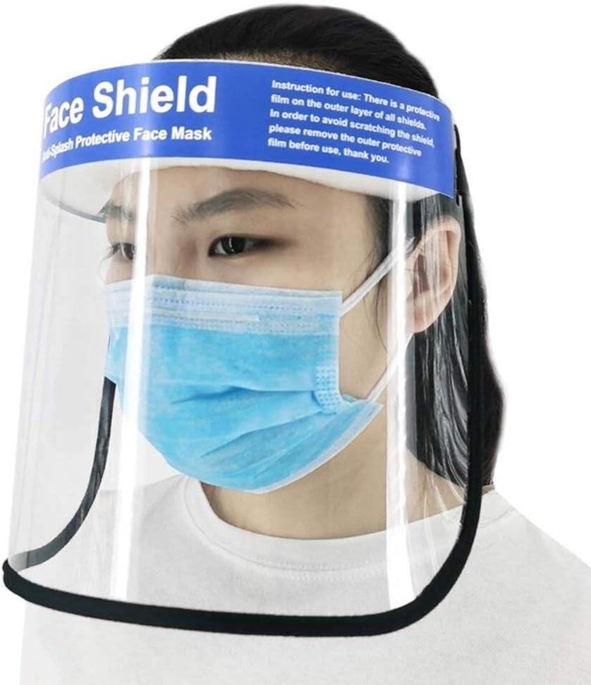 Liaochengxinchaoheshangmaoyouxiangongsi Máscara Protectora Transparente Superficie Antiniebla Cara Tan Quan Capucha Protectora Antipolvo Máscara Transpirable Pantalla Facial Antivaho Y Aceite