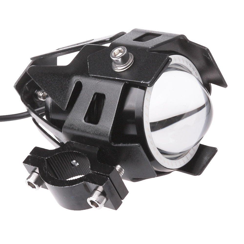 Lemonbest/® 2 piezas de la motocicleta del coche LED de la linterna del CREE LED del punto U7 antiniebla delanteros de luz de l/ámpara DRL Spotlight Conducir Luces diurnas Blue Circle