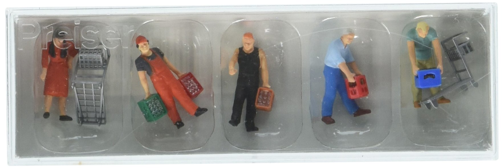 Preiser 10656 at The Cash and Carry Beverage Store Package(5) HO Model Figure
