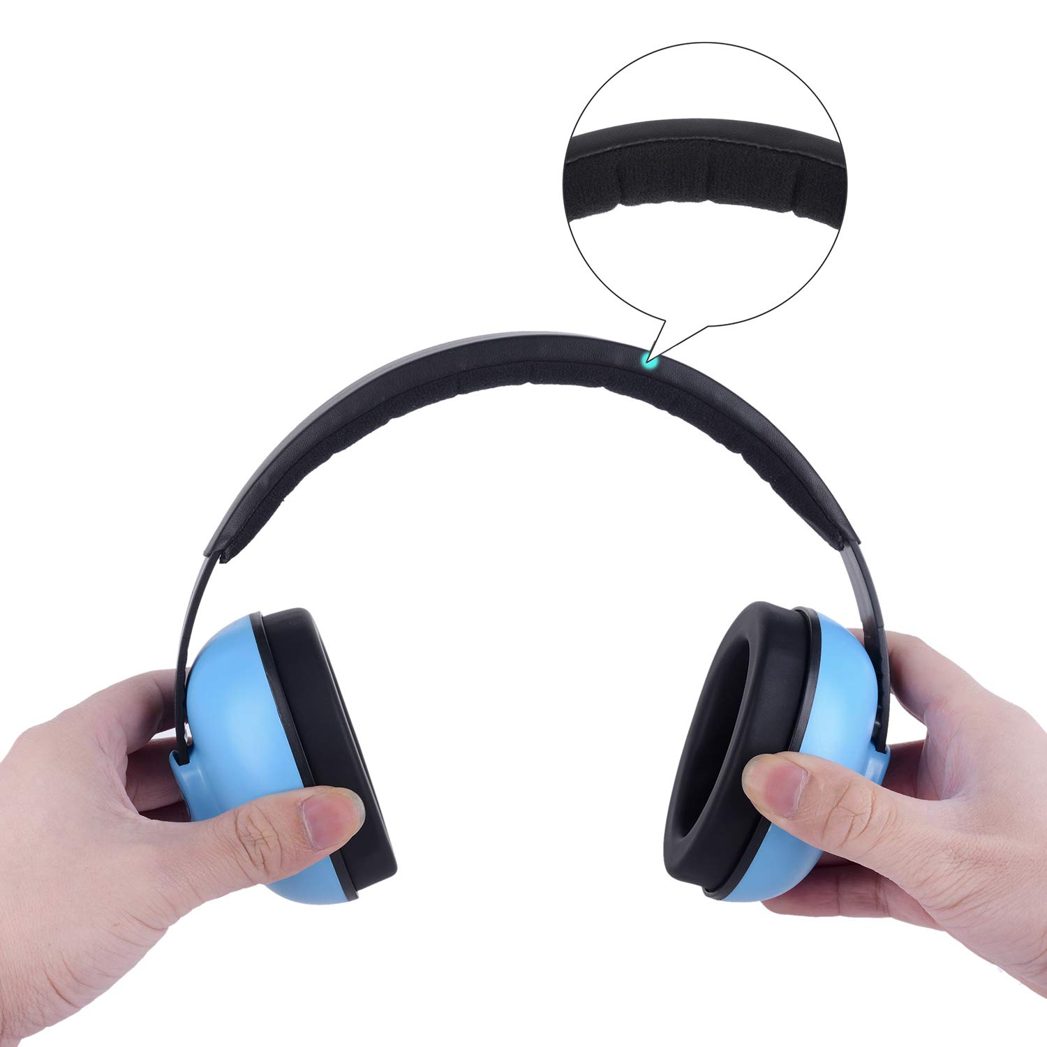 Baby Headphones Safety Ear Muffs Noise Reduction for Newborn Infant Autism Kids Toddlers Sound Cancelling Headphones for Sleeping Studying Airplane Concerts Movie Theater Fireworks, Blue by ILOVEUS (Image #10)