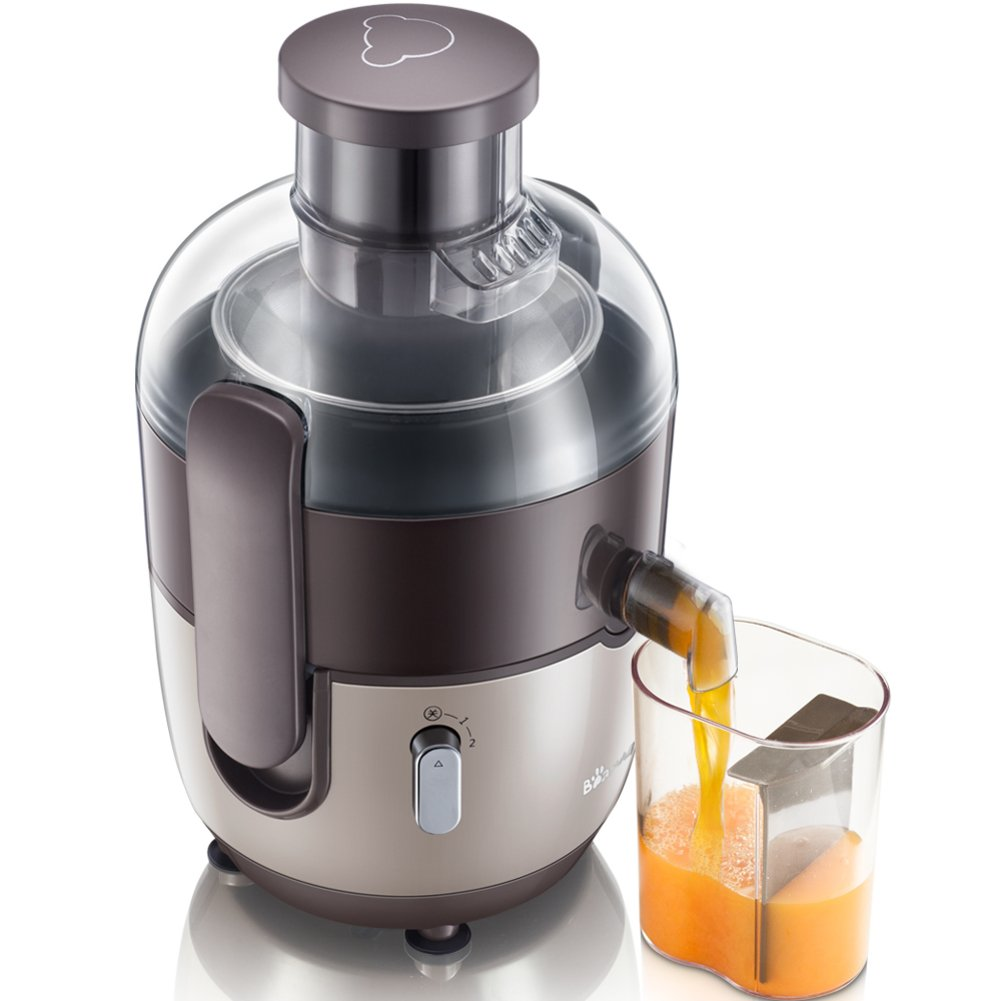 SL&VE Multifunctional electric juicer, Fruit and vegetable juicer, With juice jug and brush, Bpa free-brown