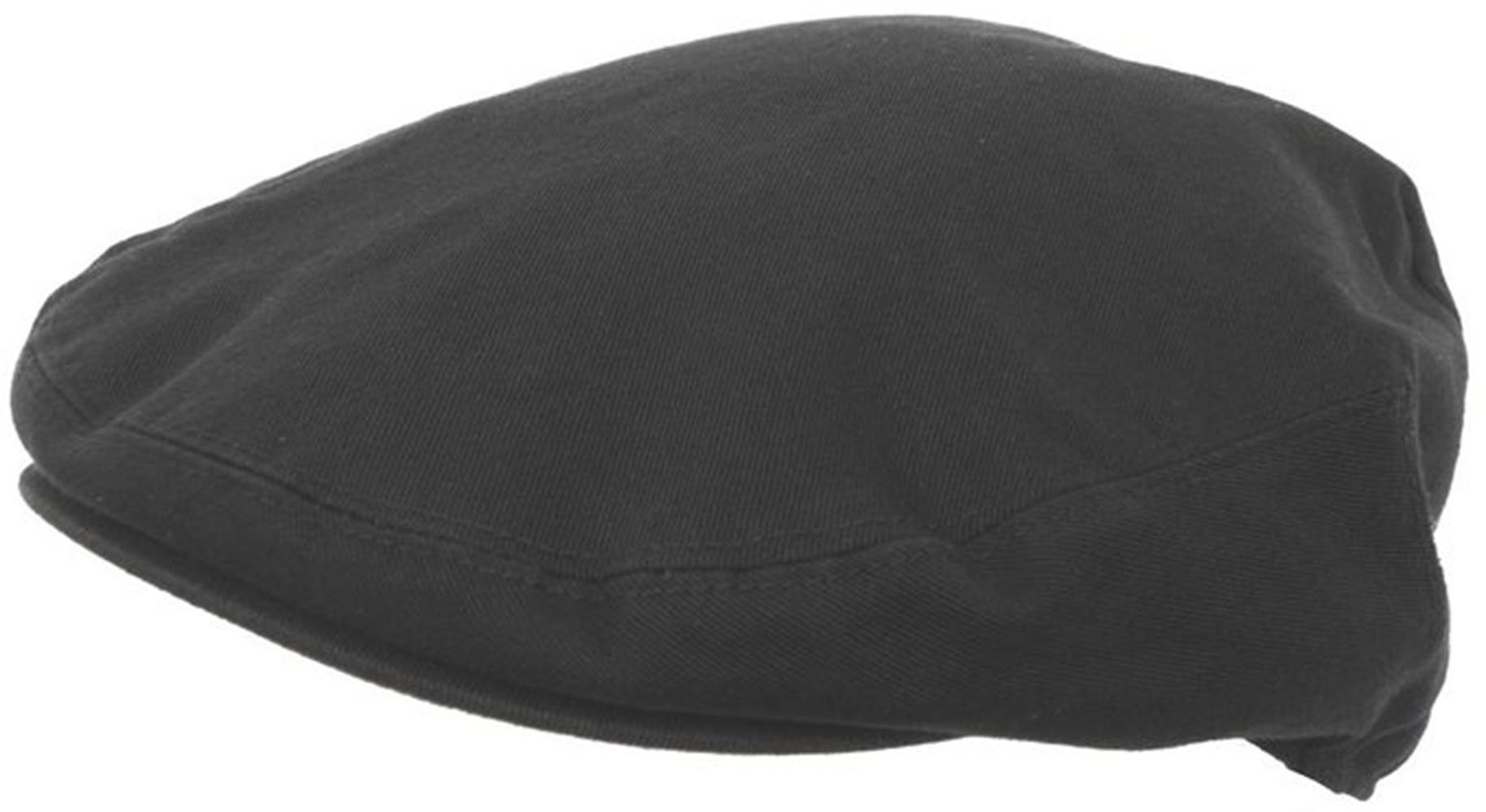 Summer Cotton Ivy Scally Driving Hat Newsboy Golf Cap (Large, Black)