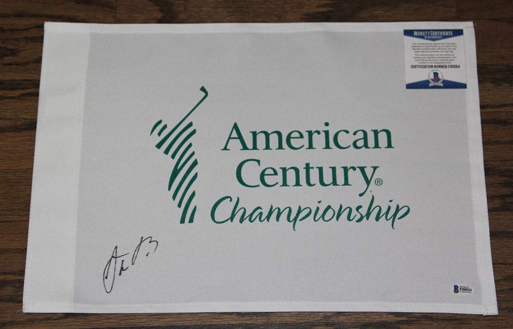 Aaron Rodgers Autographed Signed Auto American Century Championship Flag Bas #F00024 Packers