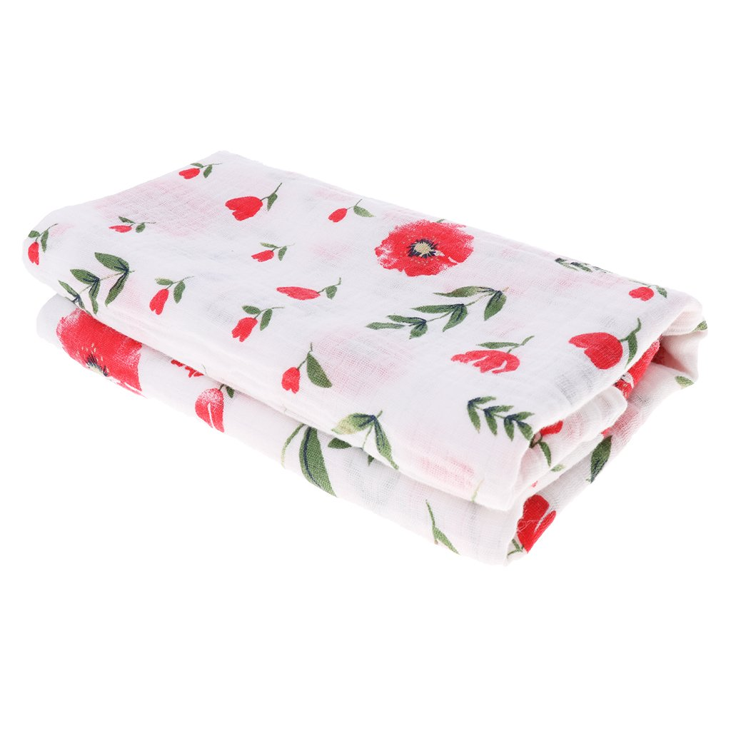 MagiDeal Soft Muslin Baby Swaddling Blanket Newborn Infant Cotton Swaddle Towel - Cactus, as described non-brand