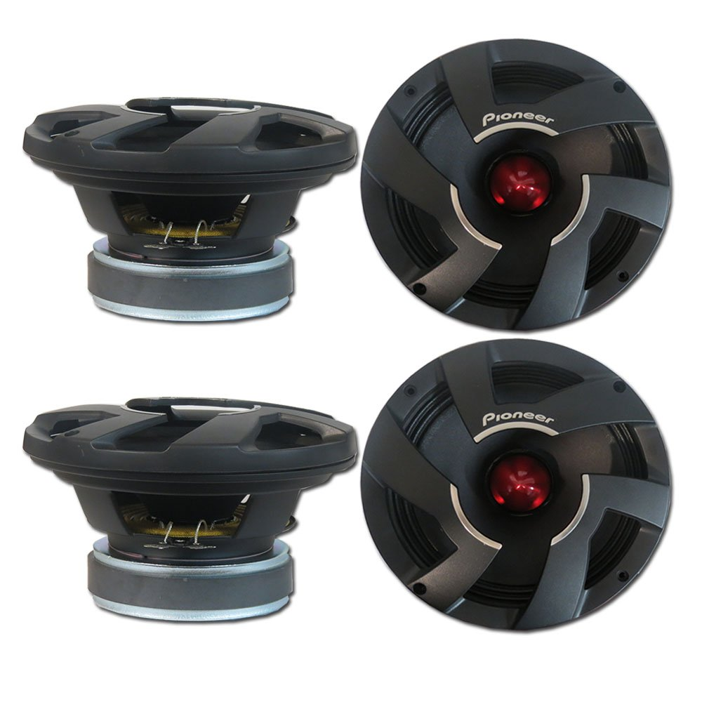 4 x Pioneer TS-M800PRO 8-inch Pro Car Audio Mid Bass Speaker Driver 8'' 700W
