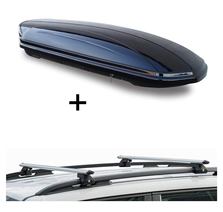Roof Rack CRV135 Compatible with Citroen Berlingo II from 2008 VDPMAA320 Roof Box 320 Litres Lockable Black 3-5 Door