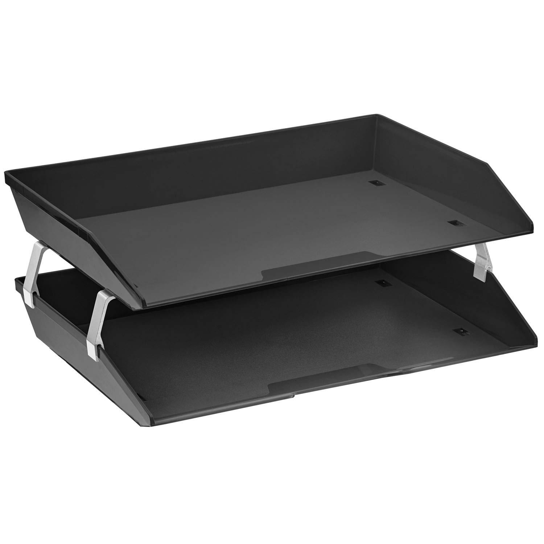 Acrimet Facility 2 Tiers Double Letter Tray (Black Color)