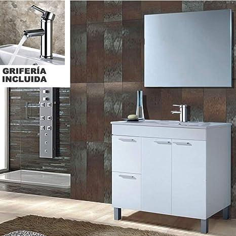 Hogar Decora Conjunto Mueble Baño Completo Oviedo con Lavabo ...