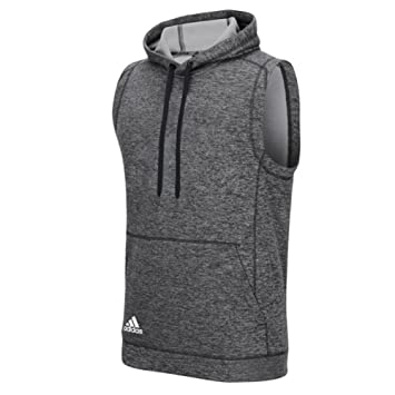 Amazon.com : Adidas Mens Climawarm Team Issue Sleeveless Hoodie ...
