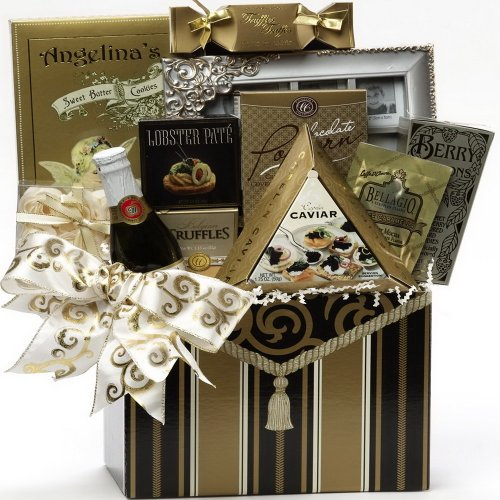 Art of Appreciation Gift Baskets To Have and To Hold Wedding or Anniversary Gift Box with Caviar (Candy)