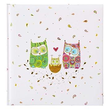 Baby Circle Goldbuch Babyalbum 15317 30 x 31 cm 60 wei/ße Seiten mit Pergamin-Trennbl/ättern Kunstdruck mit Goldpr/ägung und Relief Wei/ß//Gelb