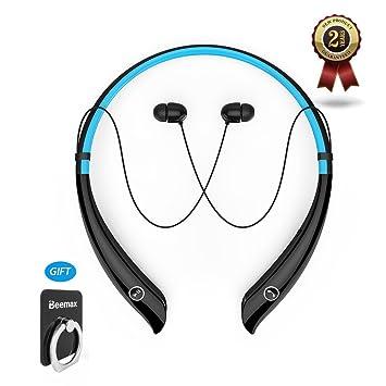 Inalámbrica Bluetooth auriculares con banda para el cuello auriculares estéreo cancelación de ruido auriculares HV-930 estéreo V4.1 Auriculares (negro ...